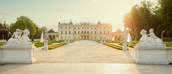 The Branicki Palace and park in Bialystok, Poland Fototapete