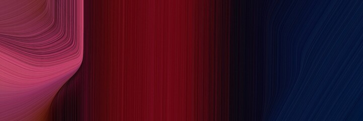 Fotorolgordijn Bordeaux elegant colorful canvas with very dark blue, moderate pink and dark red colors. fluid curved flowing waves and curves