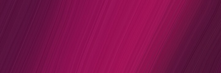 Foto auf Gartenposter Hochrote elegant colorful designed horizontal header with dark pink, dark moderate pink and very dark magenta colors. fluid curved lines with dynamic flowing waves and curves