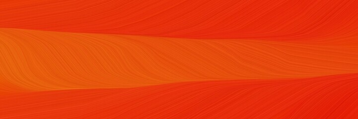 Foto auf AluDibond Ziegel elegant moving cover with orange red, strong red and crimson colors. fluid curved flowing waves and curves