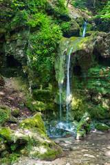 Obraz Hajsky waterfall, Slovak Paradise, Slovakia - fototapety do salonu