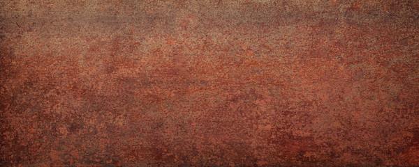 rusty sheet metal, panoramic background. weathered rust texture