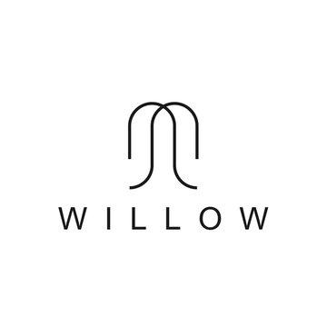 willow logo icon vector designs
