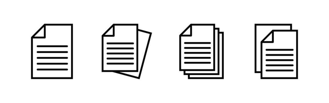 Document icons set. Paper icon. File Icon