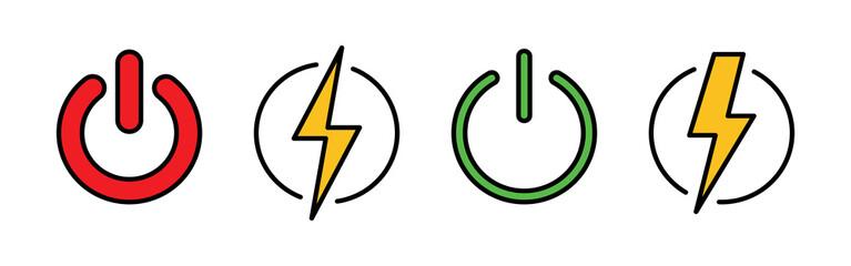 Power icons set. Power Switch Icon. Start power icon