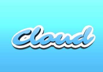 Comic Cloud Text Effect Mockup