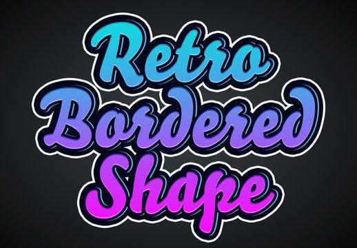 Retro Bordered Shape Text Effect Mockup