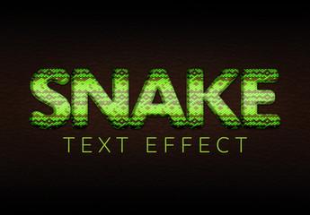 Snakeskin Texture Text Effect Mockup