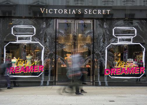 LONDON- Victoria's Secret on Bond Street, an upmarket underwear brand