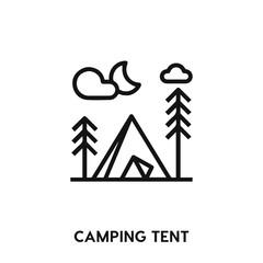 camping tent icon vector. camping tent icon vector symbol illustration. Modern simple vector icon for your design. camping tent icon vector