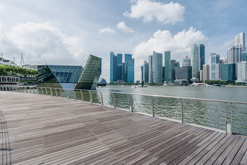 Wall Mural - city skyline in singapore