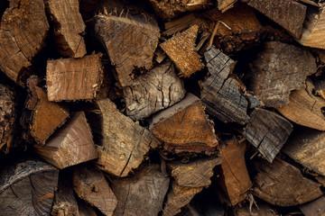 Keuken foto achterwand Brandhout textuur Folded Brown Wood Bars. firewood