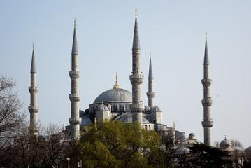 blue, mosque, istanbul, turkey, architecture, travel, culture