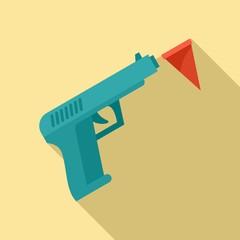Circus gun icon. Flat illustration of circus gun vector icon for web design