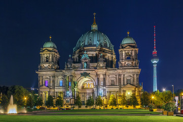 Fototapete - Berlin Cathedral, Germany