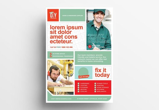 Product Flyer or Poster Layout for Product Retailers