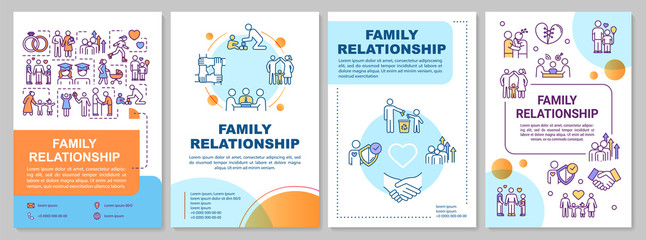 Family relationship brochure template