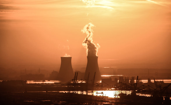 Smoke Emitting From Nuclear Power Plant