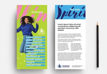 Compact Modern Church Flyer Layout with Vibrant Colours