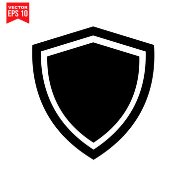 shield protection shield garbage Icon symbol Flat vector illustration for graphic and web design.