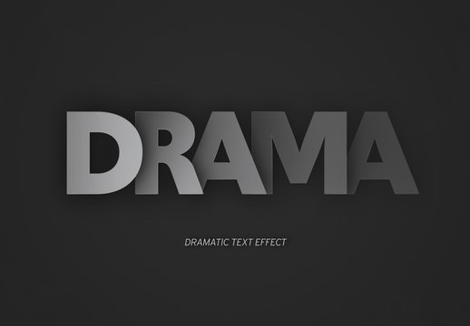 Dramatic Dark Shaded Text Effect