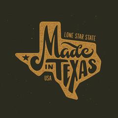 Texas related t-shirt design. Vintage vector illustration.
