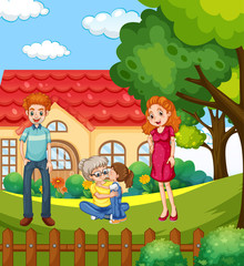 Foto op Aluminium Kids Scene with people in family relaxing at home