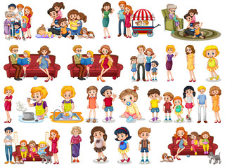 Set of people cartoon character