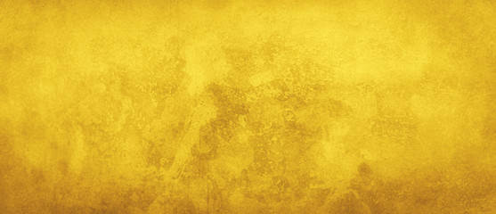 Yellow background with grunge texture, old vintage gold background or paper design, elegant luxury antique website or wall