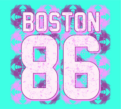 American college style print and embroidery graphic design vector art