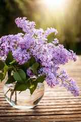 Flieder lila Blumenstrauß