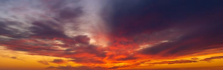 dramatic, fiery sky-panorama Wall mural