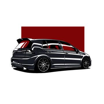German Car Stance Golf R