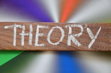napis theory - fototapety na wymiar