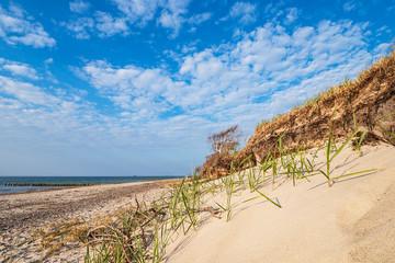Fototapete - Strand an der Küste der Ostsee bei Graal Müritz