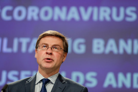 News conference on banking package to facilitate lending to households and businesses in the EU, in Brussels