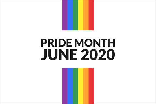 LGBT Pride Month. Holiday concept. Template for background, banner, card, poster with text inscription. Vector EPS10 illustration.