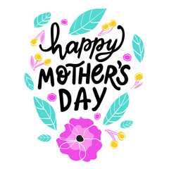 Happy mothers day vector hand written lettering
