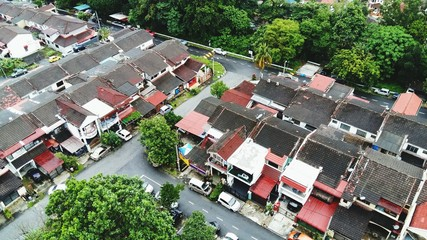 High Angle View Of Residential District - fototapety na wymiar