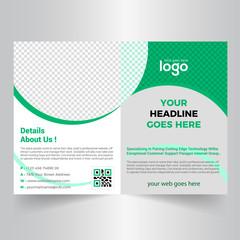 Bi-fold Brochure Template Design.Corporate & Business Concept