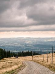 Fototapeta Giant Mountains. View to flatland. obraz