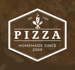 italian pizza logo, vector, fast food, delivery, trattoria, bistro, caterin