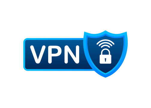 Secure VPN connection concept. Virtual private network connectivity overview. Vector stock illustration.