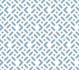 Fotorolgordijn Geometrisch Abstract geometric pattern. A seamless vector background. White and blue ornament. Graphic modern pattern. Simple lattice graphic design