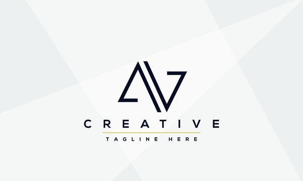 AV Letter Logo Design. Creative Modern Alphabet letters monogram icon A V, A and V.