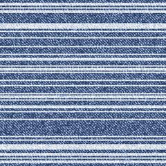 Vector Striped denim texture. Jeans background with geometric design. Denim seamless pattern. Blue jeans fabric. Horizontal stripes.