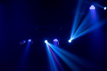 Abstract texture background for design. Stage light and smoke on stage, lighting and spotlights.
