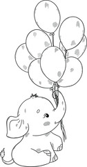 Cute Baby Elephant Coloring Pages - Part 3 | 240x126