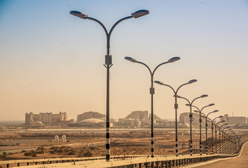 Street Lights Along Road Fotomurales