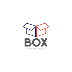 Box Logo Icon Vector Template Design Illustration